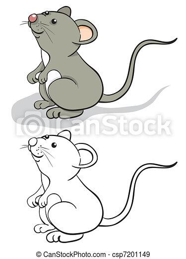 αστείο , ποντίκι  - csp7201149