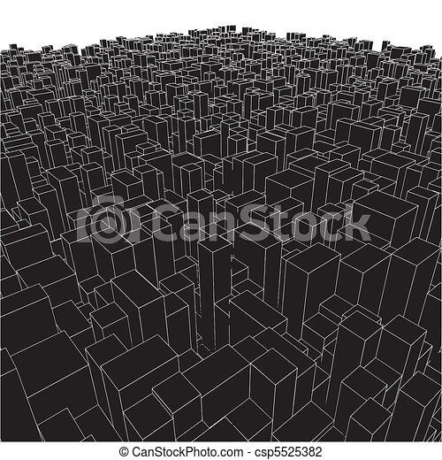 αστικός , αφαιρώ , κύβος , κουτιά , πόλη  - csp5525382