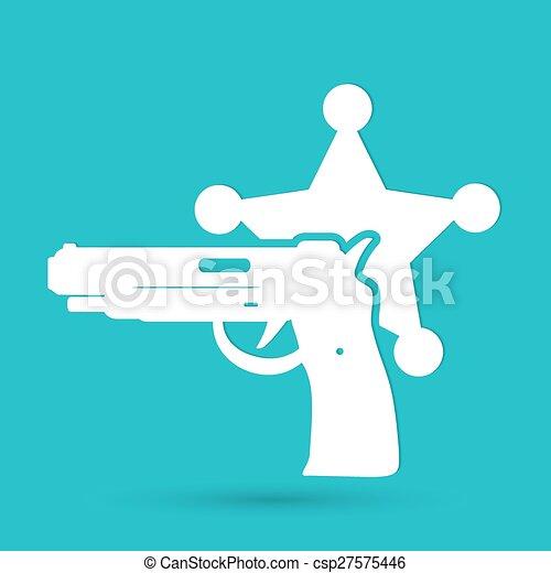 αστυνομία , μοντέρνος , απομονωμένος , εικόνα , μικροβιοφορέας , icon. - csp27575446