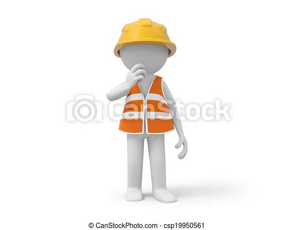 ασφάλεια , εργάτης  - csp19950561