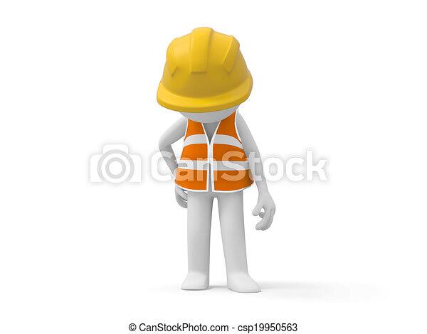 ασφάλεια , εργάτης  - csp19950563