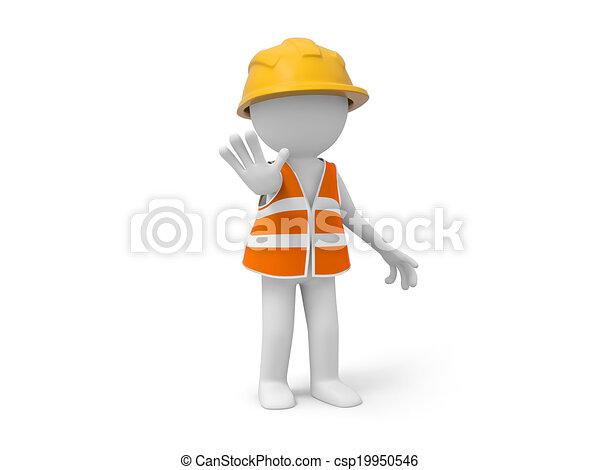 ασφάλεια , εργάτης  - csp19950546