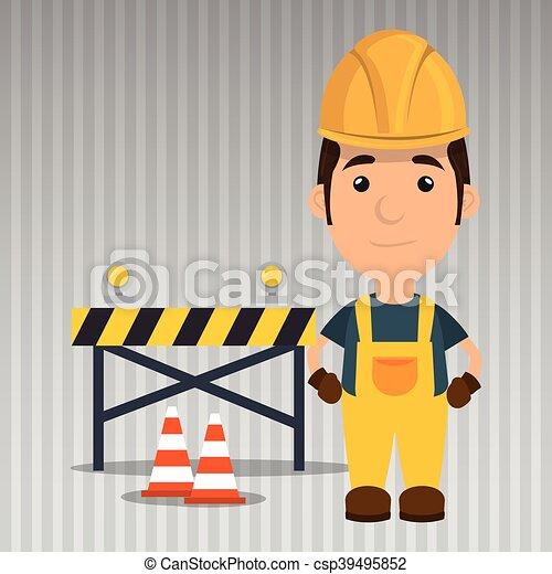 ασφάλεια , παραγγελία , εργάτης , εργαλείο  - csp39495852