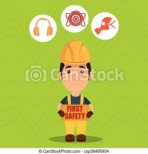 ασφάλεια 1 , εργάτης , εικόνα  - csp39495934
