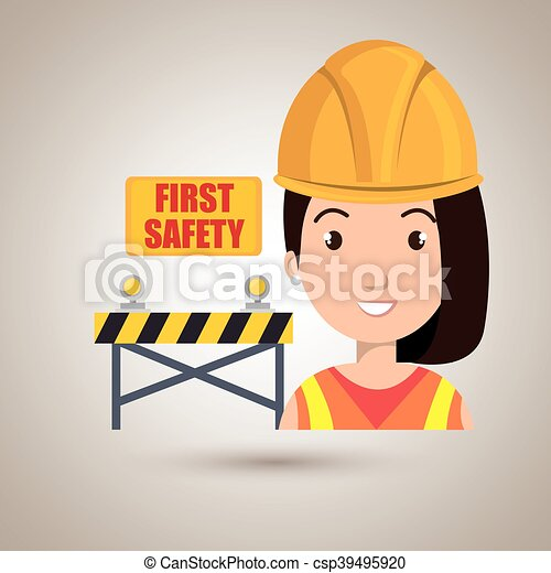 ασφάλεια 1 , εργάτης , εικόνα  - csp39495920