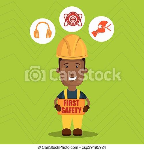 ασφάλεια 1 , εργάτης , εικόνα  - csp39495924
