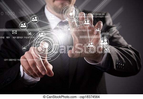ασύρματος , μέσα ενημέρωσης , μοντέρνος τεχνική ορολογία , κοινωνικός  - csp18374564