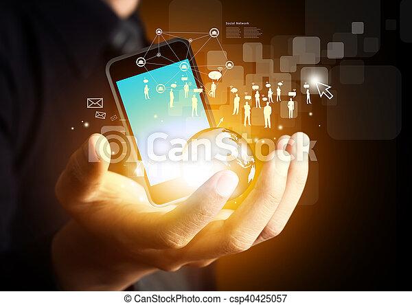 ασύρματος , μέσα ενημέρωσης , μοντέρνος τεχνική ορολογία , κοινωνικός  - csp40425057