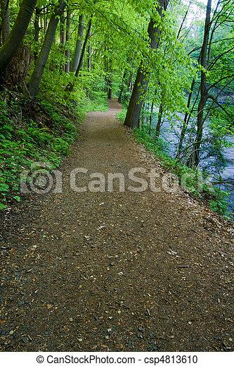 ατραπός , ποτάμι , πεζοπορία  - csp4813610