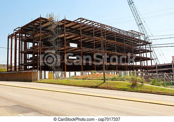 ατσάλι , κτίριο , πόλη , κορνίζα , θέση , δομή  - csp7017337