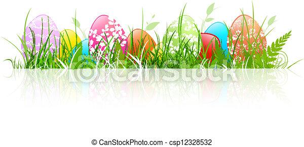 αυγά , πόσχα  - csp12328532