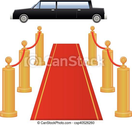 αυτοκίνητο , μικροβιοφορέας , λιμουζίνα , χαλί υποδοχής  - csp40526260
