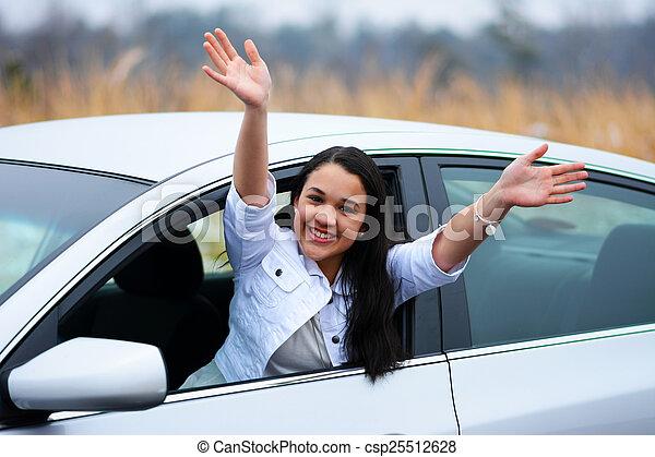 αυτοκίνητο , οδήγηση  - csp25512628