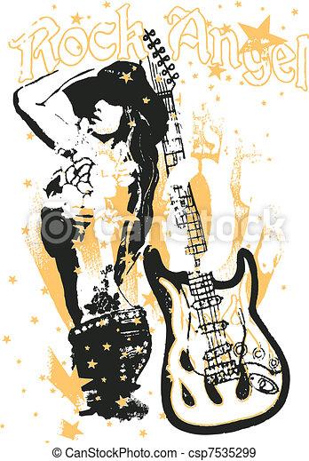 αφίσα , γυναίκα , τέχνη , κρότος  - csp7535299