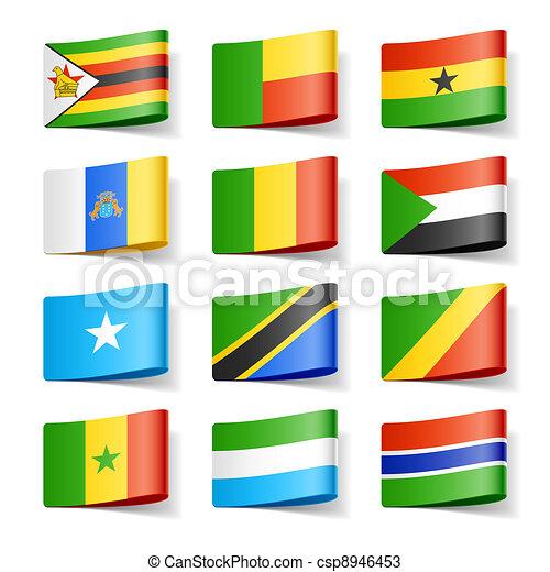 αφρική. , flags., κόσμοs  - csp8946453