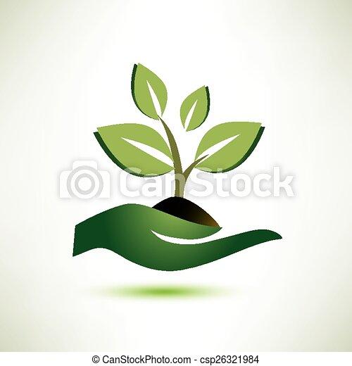 βάγιο , εργοστάσιο , γενική ιδέα , οικολογία σύμβολο  - csp26321984