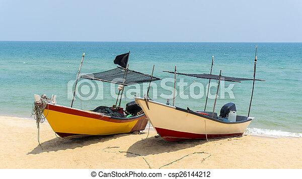βάρκα , παραλία , δυο  - csp26144212