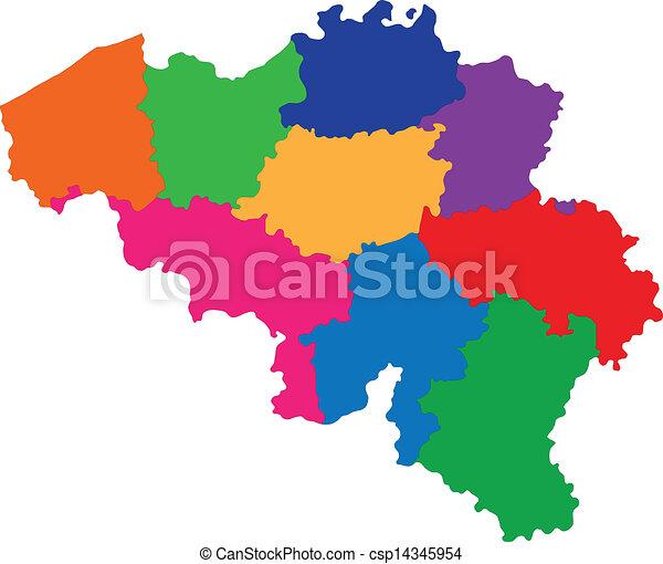 βέλγιο , χάρτηs  - csp14345954