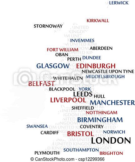 βασίλειο , χάρτηs , ενωμένος , λέξη , σύνεφο  - csp12299366