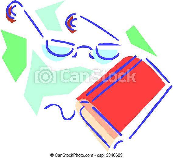 βιβλίο , γυαλιά  - csp13340623