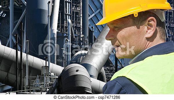 βιομηχανικός δουλευτής  - csp7471286