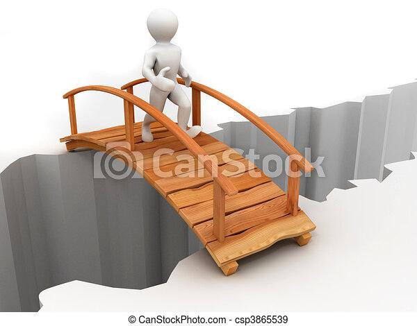 γέφυρα , απέναντι , χαράδρα  - csp3865539