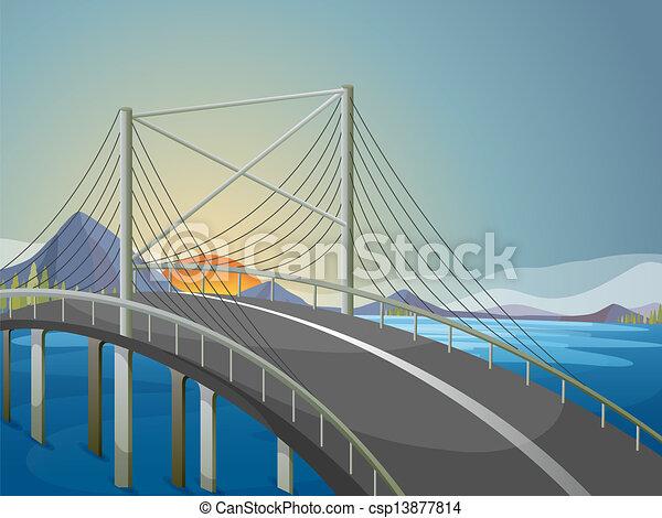γέφυρα , μακριά  - csp13877814