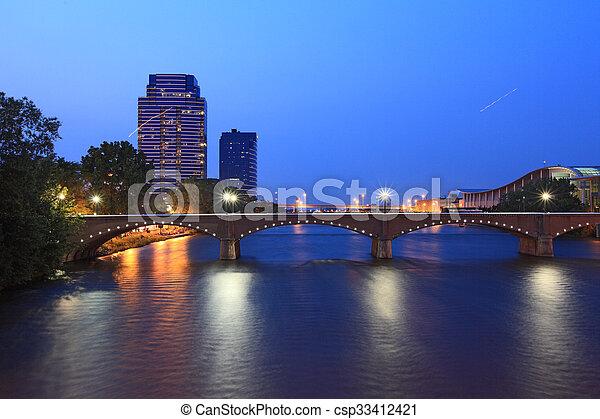 γέφυρα , μεγαλειώδης , καταρράκτης  - csp33412421