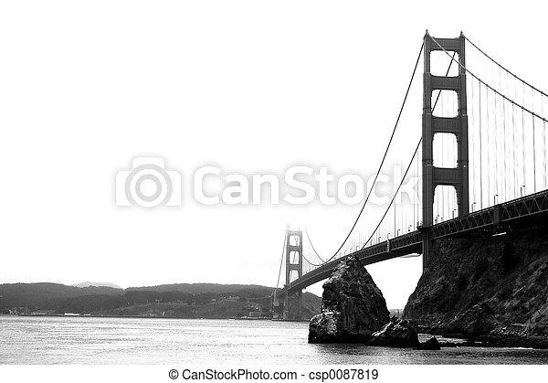 γέφυρα , πύλη , χρυσαφένιος  - csp0087819