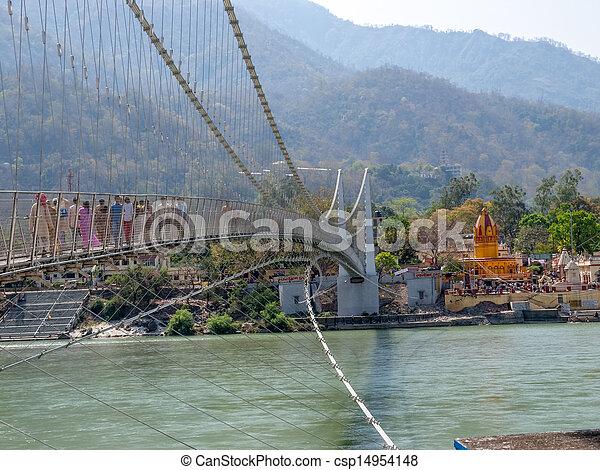 γέφυρα , laxman, jhula - csp14954148