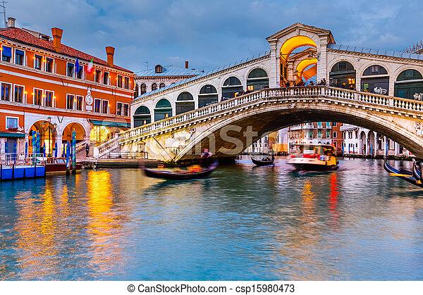 γέφυρα , rialto , λυκόφως  - csp15980473