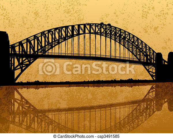 γέφυρα , sydney ελλιμενίζομαι  - csp3491585