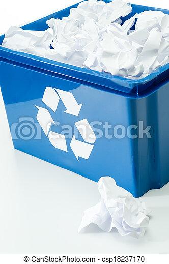 γαλάζιο αγωγή , ανακύκλωση , αξίες δοχείο , σπατάλη  - csp18237170