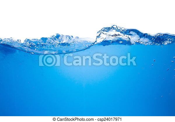 γαλάζιο διαύγεια , φόντο , κύμα  - csp24017971