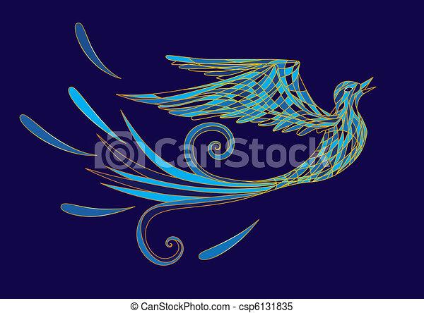 γαλάζιο πουλί  - csp6131835