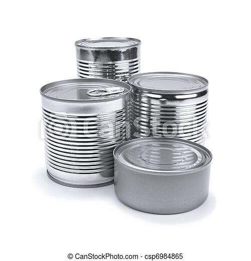 γανώνω cans  - csp6984865