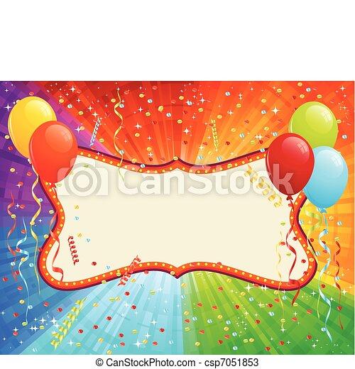 γενέθλια αγγελία  - csp7051853