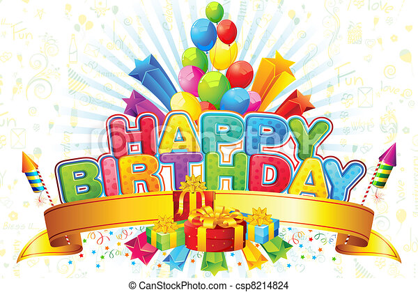 γενέθλια , ευτυχισμένος  - csp8214824