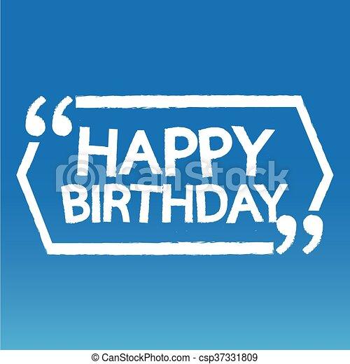 γενέθλια , σχεδιάζω , εικόνα , ευτυχισμένος  - csp37331809