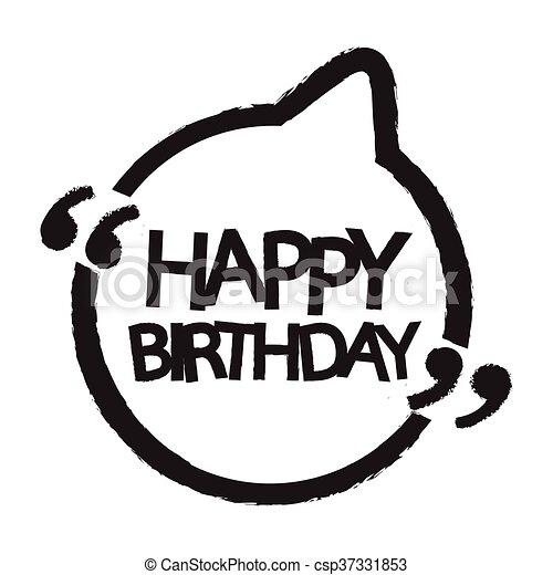 γενέθλια , σχεδιάζω , εικόνα , ευτυχισμένος  - csp37331853