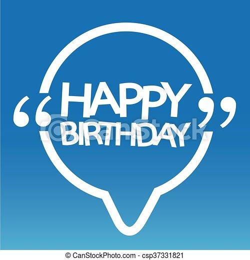 γενέθλια , σχεδιάζω , εικόνα , ευτυχισμένος  - csp37331821