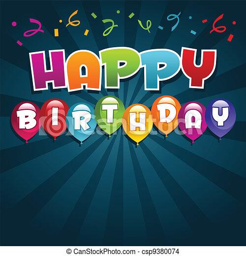 γενέθλια , χαιρετισμός αγγελία , ευτυχισμένος  - csp9380074