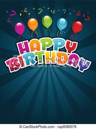 γενέθλια , χαιρετισμός αγγελία , ευτυχισμένος  - csp9380076
