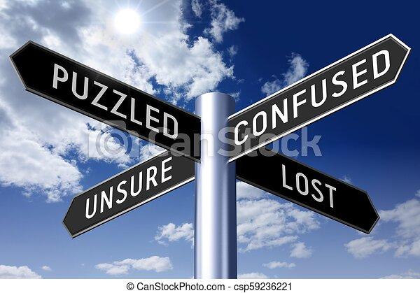 γενική ιδέα , αόρ. του lose , οδοδείκτης , - , βέλος , τέσσερα  - csp59236221