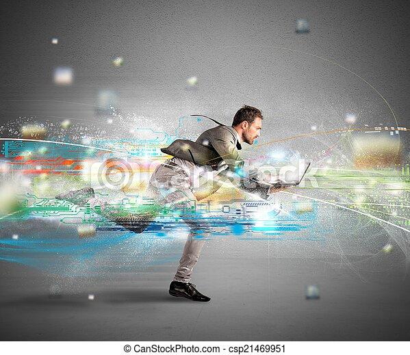 γενική ιδέα , γρήγορα , internet  - csp21469951