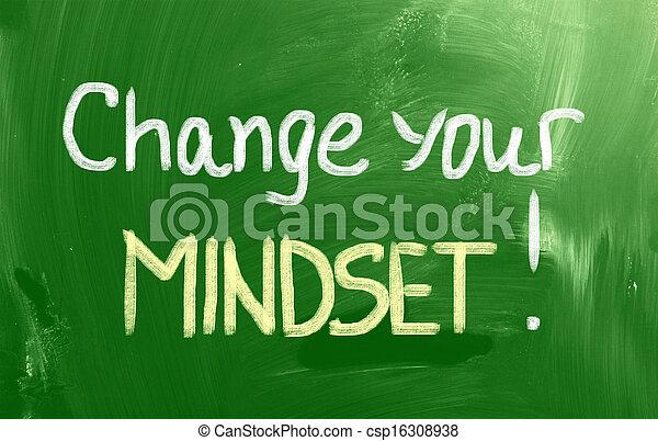 γενική ιδέα , δικό σου , αλλαγή , mindset  - csp16308938
