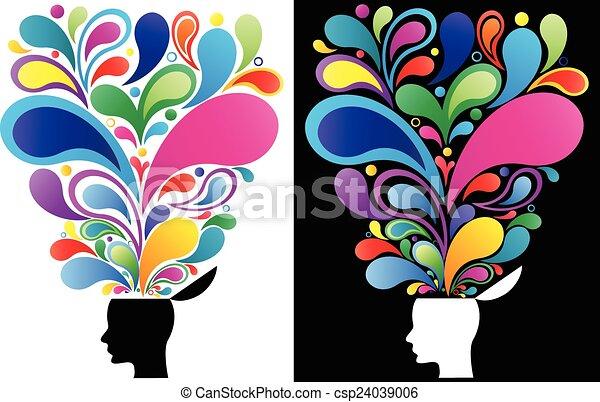 γενική ιδέα , μυαλό , δημιουργικός  - csp24039006
