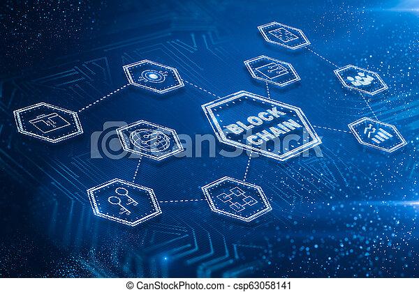γενική ιδέα , τεχνολογία , εμποδίζω , αλυσίδα  - csp63058141