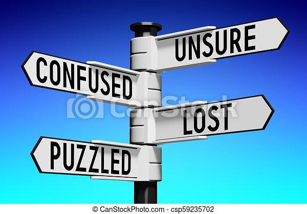 γενική ιδέα , illustration/, αόρ. του lose , βέλος , - , τέσσερα , απόδοση , οδοδείκτης , 3d  - csp59235702