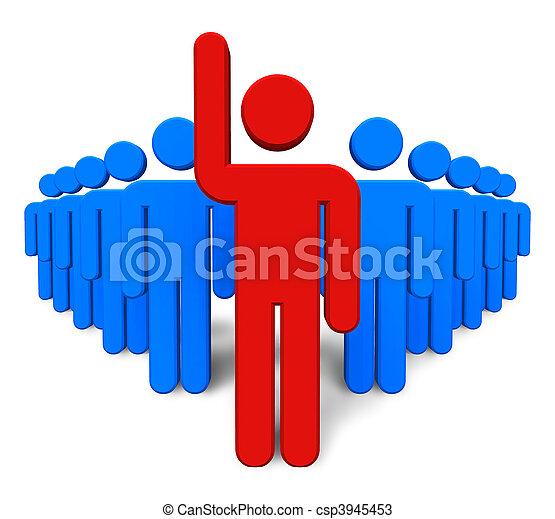 γενική ιδέα , success/leadership - csp3945453